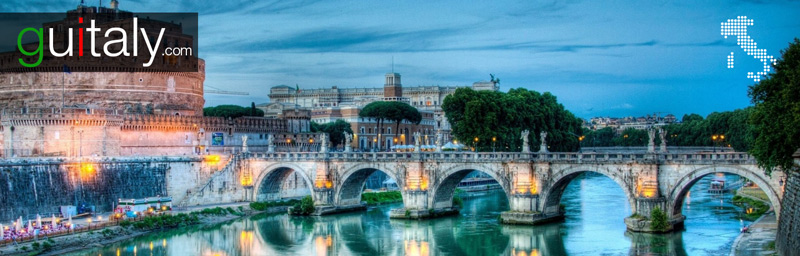 Rome | Pont Sant'Angelo bridge - tourism Italie